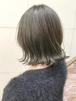 ☆ハイライトリーフアッシュ 外ハネミディ☆morio成増1号店