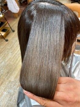 ビーチ 土呂店(Beach)の写真/新メニュー『シルクストレート』導入!髪に負担の少ない薬剤で、手触り・ツヤどちらも叶う酸性縮毛矯正♪