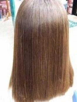 ヘアーアミューズ(HAIR AMUSE)の写真/ノンアルカリ・ノンアイロンの【パスト縮毛矯正】でウェーブ・カール形成も可能なナチュラルストレートへ★