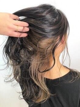 ハグアンドラグ(HUG&LUG)の写真/注目のイルミナカラーで透明感のある髪に☆ハイライト、グラデーション、バレイヤージュまで幅広く対応◎