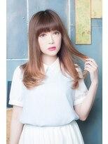 美容室ヘア マックス 鳥取店【美容室へアマックス 釧路】大人可愛い ストレート セミディ