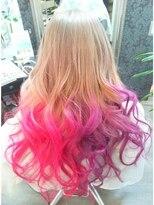 ヘアーグランデシーク(Hair Grande Seeek)Seeek Style pink&violet2色グラデcolor♪