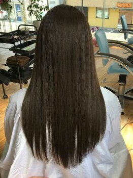アトラスヘアー(Atlas hair)の写真/クセを伸ばすだけじゃない縮毛テクニック!真直ぐなりすぎず、360度綺麗でナチュラルな仕上がりに☆