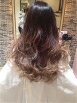 外国人風セレブ髪グラマラスグラデーションカラー