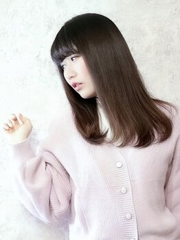 ベースヘアーデザイン(BASE HAIR DESIGN)の写真/【新規★カット+ナチュラル縮毛矯正¥9900】サラ艶美髪☆ナチュラルで柔らかな質感の愛されストレートヘアに