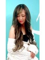 マーメイドヘアー(mermaid hair)外国人風ハイライト+カラー+エクステ50本
