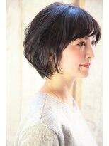★40代からのヘアスタイル~黒髪でも若々しく見える横顔~
