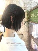 クレドガーデン 綾瀬店(CRED GARDEN)フォギーベージュ × ミニボブ