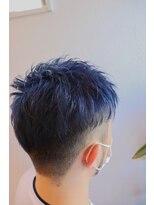 ヘアーグルーミング アイム(Hair &Grooming aim)【メンズカット】ツーブロショート×ブルーブラック