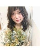 【アシメバング × フォギーベージュ 透明感ヘア 】by IRO 白井