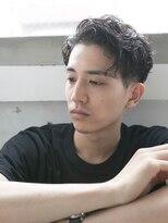 【AO晴】ソフトツーブロックビジカジウェット◎かき上げヘア