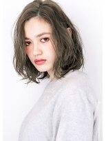 ヘアサロン ガリカ 表参道(hair salon Gallica)☆ マットグレージュ & 毛束感 ☆ 無造作ボブ デザインカラー☆