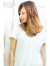 ヘアメイク ニコ(Hair make Nico)☆パールアッシュグラデーション、ミディアムボブ