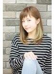 【スポンテニアス】インナーカラー×斜めバング×王道ミディアム