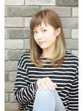 エピス 麻生1号店(epice)【スポンテニアス】インナーカラー×斜めバング×王道ミディアム