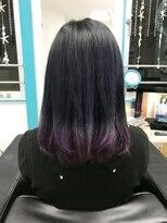 マーメイドヘアー(mermaid hair)アディクシーカラー+マニパニのグラデ