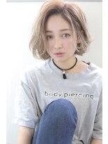 【Blanc/目黒】外国人風3Dハイライト_切りっぱなしボブ