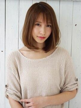 アグ ヘアー カーレント 天文館店(Agu hair current)前髪×Aライン大人ロブ