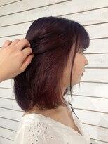 ビーヘアサロン(Beee hair salon)【渋谷カラーBeee/安部 郁美】インナーカラーワインレッド