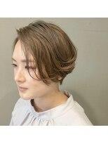 アルマヘアー(Alma hair by murasaki)ベージュカラーのハンサムショート