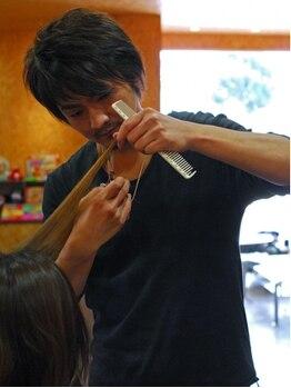 フィールド ヘアー スペース(Field Hair space)の写真/彫刻を削る様な丁寧なカットから作り出される美シルエットにリピーター続出♪なりたいStyleを叶えます!