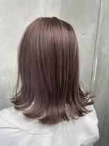 サロンドミルク 原宿(salon de MiLK)ナチュラル春ピンク 艶髪 髪質改善