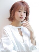 《Agu hair》ピンクが可愛い☆外ハネボブ