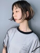 ラウンジ モリオ イケブクロ(Lounge MORIO Ikebukuro)【morio池袋】かっこいいショートバングタックボブ♪