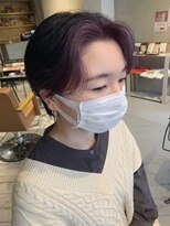 ヘアー アイス ルーチェ(HAIR ICI LUCE)ブリーチ☆ショートボブ&ラベンダー&フェイスフレーミング/山中