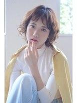 【soy-kufu】眉上前髪のカーリショート