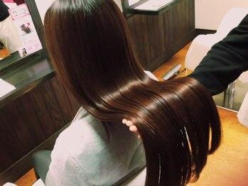サロン 和の写真/【縮毛矯正+カット+ヘッドスパ¥14399】で憧れうるツヤ美髪に♪髪もココロも癒される特別コース☆