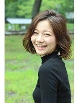 【KAINO】住田厚 クリープパーマでやわらかウェーブボブ