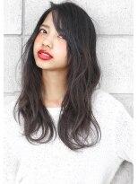 ヘアサロン ガリカ 表参道(hair salon Gallica)『 ダークグレージュ 』× 『 外国人クセ毛風 』小顔semi-long☆
