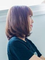 アフェクト ファーブ(affect×Farb)前髪アシンメトリーが可愛いボブ