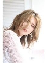 【soy-kufu】前髪カラー 個性派ウルフ