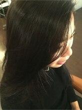 プライベート ヘアーサロン アイリス(Private Hair Salon Iris)【アップバング】ナチュラルストレートスタイル