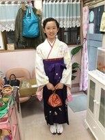 小学生卒業式袴着付とヘアーセット