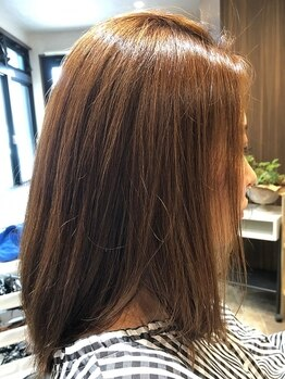 ルーブヘアー(Roob Hair)の写真/施術の工程ひとつひとつにこだわり、自然で柔らかなストレートが叶います◎乾かすだけでまとまりヘアに♪