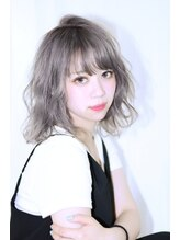 プレアヘアドレッシング【Prea田中】フェザーボブ×グレージュ