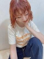 ネオヘアー 東向島店(NEO Hair)パキッとオレンジカラー