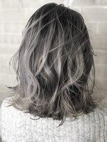 オーブ ヘアー カルネ 松戸店(AUBE HAIR carnet)【AUBE HAIR】ネイビーグレーハイグラデーション_ニュアンスロブ