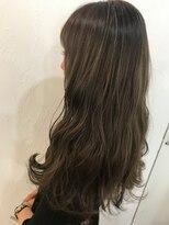 ヘアーアンドメイク ルシア 梅田茶屋町店(hair and make lucia)シークレットハイライトで透け感ベージュ