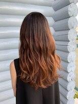 クレエ ヘアー デザイン(creer hair design)透明感オレンジベージュ