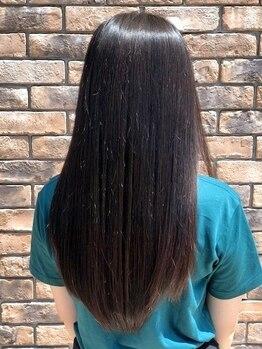 リエートビタ 栗生(Lieto vita)の写真/硬くなりすぎないナチュラルな仕上がりの縮毛矯正♪柔らかい質感とツヤのある自然なストレートが叶います◎