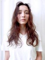 バッテリー ヘアアンドメイク 塚口店(Battery hair&make)ほつれカール×セミウェットロング