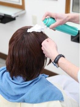 資生堂ゾートスサロン トワ・エ・モアの写真/炭酸泡&マッサージでイキイキと弾む本来の髪へ★エイジングケアとしても◎日々の疲れも癒される!