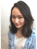 ギフト ヘアー サロン(gift hair salon)かきあげバング カジュアルパーマ (熊本・通町筋・上通り)