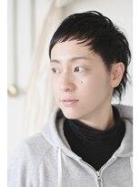 ベリーショート×黒髪