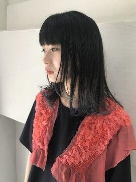 ヘアーメイクデザインパフ(HairMakeDesign Paf)裾カラーミディアム