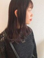 【モテ髪】アッシュピンクミディ